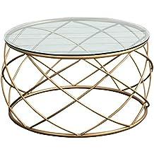 Attraktiv Tische Moderner Minimalistischer Ausgeglichener Glascouchtisch Kreativer  Art Und Weise Runder Eisencouchtisch Wohnzimmer Einzelne Sofakante
