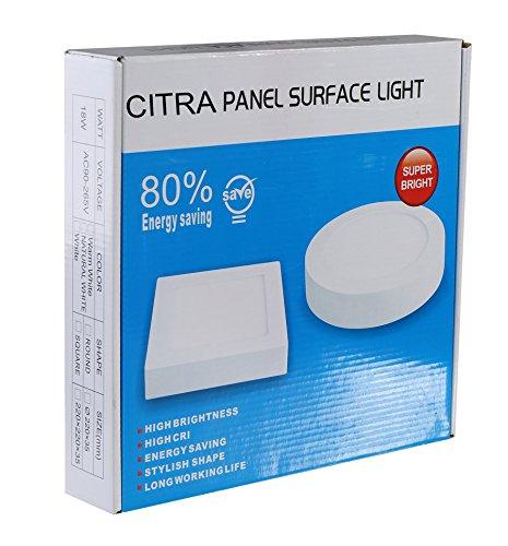Generic 12-Watt Round LED Surface Panel Light (White)