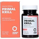 PRIMAL KRILL Öl   Omega 3 Öl, EPA, DHA und Astaxanthin   Nachhaltiger Antarktis Wildfang   Erhaltung normaler Sehkraft, Herz- & Gehirnfunktion - 60 Kapseln á 500mg