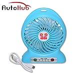 #9: Auto Hub Rechargeable High Speed Mini Fan