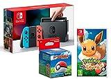 Nintendo Switch 32Gb Neon-Rot/Neon-Blau + Pokémon: Let´s Go, Evoli! + Poké Ball Plus