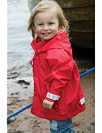 Togz Waterproof Jacket Red, Features Safe & Seen Hi Vis