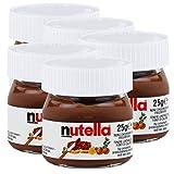 5x Ferrero Nutella World Glas Brotaufstrich Schokolade 25g