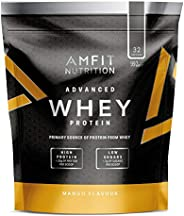 Amazon Brand - Amfit Nutrition Advanced 100% Whey Protein Powder - 992 g (Mango, 32 Servings)