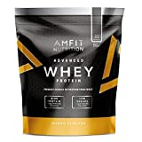 Marque Amazon - Amfit Nutrition Advanced Whey protéine de lactosérum saveur mangue, 32 portions,  990 g
