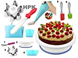 #8: hpk Cake Decoration Tools Set, Plastic, Multicolour