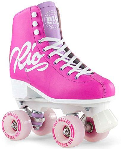Roller Wheels Trucks Skate Und (Rio Roller Rollschuhe Script Pink/Lilac (40.5))