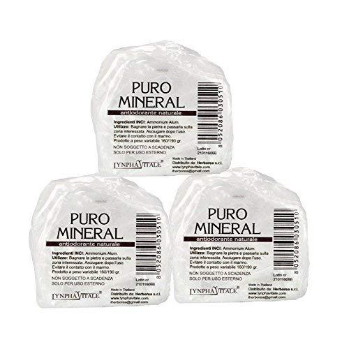 ristall Steine - 100% Natürliches Deo ohne Aluminium Chlorohydrat - 160-190 gr. - Vorteilspack ()