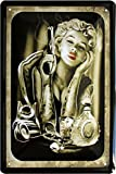 Marilyn Monroe Smoking Kurzwaren Tattoo Motif 20 x 30 cm plaque de 714