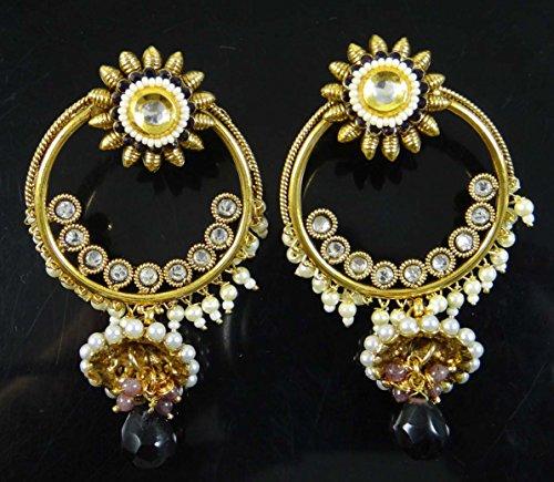 les femmes ethniques Dangle Boucles d'oreilles bijoux traditionnels boucle d'oreille pourpre ensemble cadeau pour elle purple-19