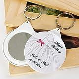 Comfot Personalisierte Schlüsselanhänger Bevorzugt Plastik-Hochzeits-Schlüsselanhänger-12Pcs