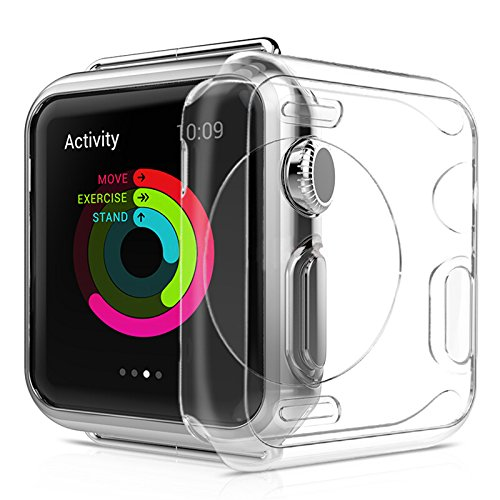 Funda Apple Watch 42mm delgada HD transparente [Cobertura