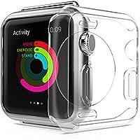 Funda para Apple Watch 42mm delgada HD transparente [Cobertura Completa] [ 0,3 mm Ultra delgado] [Anti-Arañazos]ultra antipolvo suave TPU protector de Apple Watch series 1/2/3