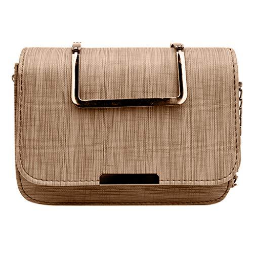 TIFIY Damen Rucksack Frauen neue Stoff Eisen Griff tragbare kleine quadratische Tasche Retro Mode Handtasche Arbeits Täglich Bankett Elegant Tasche(Khaki) -