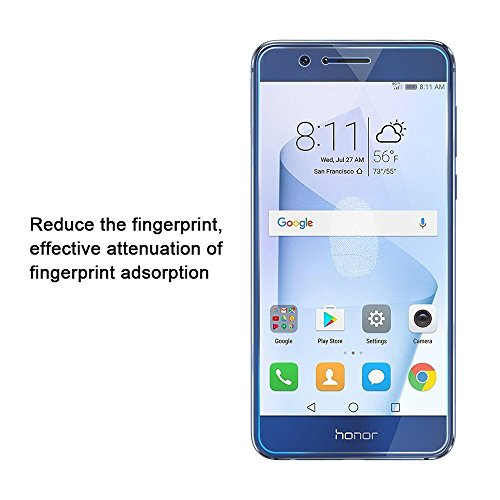 Verre Trempé Huawei Honor 8, vanki® [2-Pièces] Couverture Complète Verre Trempé écran Pour Honor 8 Ultra Résistant Dureté 9H Full Glass Screen Protector Vitre Trempe Transparent