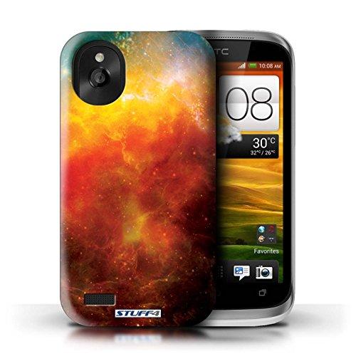 Kobalt® Imprimé Etui / Coque pour HTC Desire X / Nébuleuse Verte conception / Série Cosmos Nébuleuse Orange