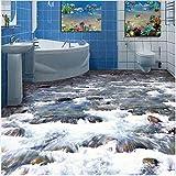 3D Boden wandbild Bodenmalerei benutzerdefinierte home decoration wohnzimmer foto klar strom wasser stein bad badezimmer 3d bodenmalereiboden wandaufkleber