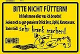 ComCard Bitte Nicht Füttern! Warnschild Pferd schild aus blech, tin sign, metallsign,