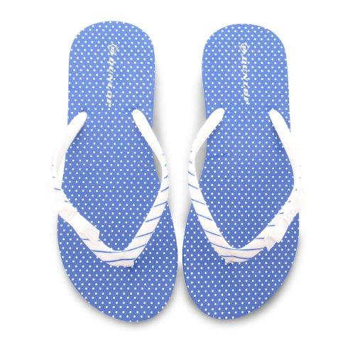 Dunlop , Damen Dusch- & Badeschuhe Blau blau Blue Polka Dot