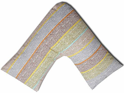 JaaZ Textile 100% algodón percal _ patrón 5_ impreso V forma de almohada casos ideal para espalda...