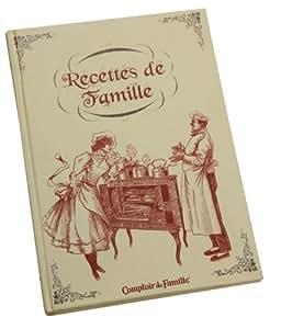 Comptoir de Famille - Ecritures recettes famille carnet / cahier
