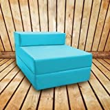 Shopisfy Waterproof Outdoor Single Fold Out Foam Z Bed - Turquoise