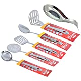 [Sponsored]A-Plus 6 Piece Stainless Steel Kitchen Tool Set - (Ladle, Skimmer, Turner, Basting , Masher & Spoon Rest)