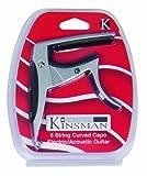 Kinsman KAC303 Capodastre courbé pour Guitare électrique/acoustique Chrome