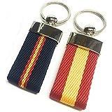 YOJAN PIEL   Conjunto dos llaveros de Lona con Bandera de España   Para Mantener las Llaves Juntas   Llavero Colgante de Meta
