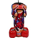 TRUVENDOR ENTERPRISES Kids Boxing kit 52cm (Punching Bag, Gloves and Headgear) (Character May Vary)