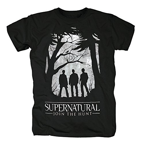 TSP Supernatural - Group Outline T-Shirt Herren S (Supernatural Castiel Kostüm)