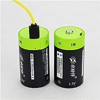 solesu Micro USB incorporato batteria ai polimeri di litio ricaricabile con cavo USB (Nero + Verde)
