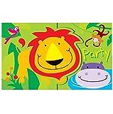Chicos y chicas de la fiesta de cumpleaños para niños tema de la selva Zoo de botín bolsa de regalo de la placa del tazón de fuente de la bandera reventadas por cajas de alimentos servilletas tazas