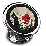 Best AVANTEK Cell Phone Mounts - Univer-sea Magnetic Car Phone Holder Vintage Red Heart Review