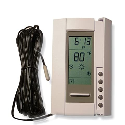 King TH115-AF-GA Programmable Electronic Floor Temp Control Thermostat 120/208/240V by King Electric