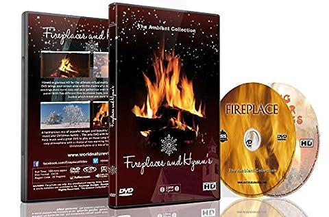 Kaminfeuer 2 DVD Set Kaminfeuer und Hymnen mit Schneefall und
