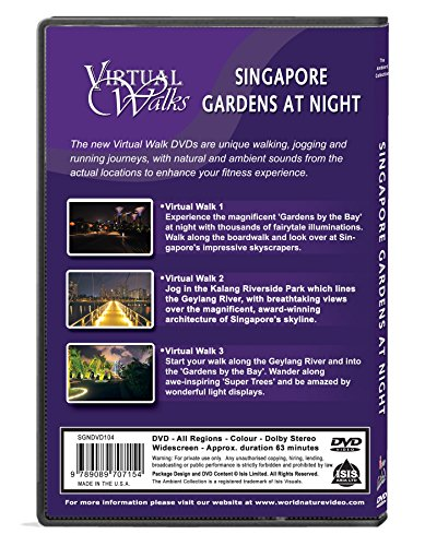 Virtual Walks - Singapore Gardens at Night for indoor Walking, Treadmill and Cycling Workouts