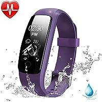 Lintelek Bracelet Connecté, Montre Sport Cardiofréquencemètre Tracker d'activité Etanche Montre GPS Connectée Chronomètre Podomètre Femme Homme