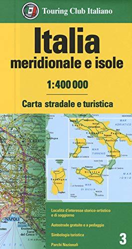 Italia meridionale isole 1:400.000. Carta stradale