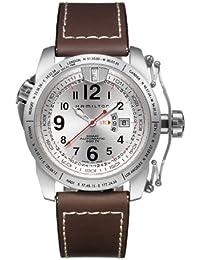 Hamilton H62555753 - Reloj analógico de caballero automático con correa de piel marrón - sumergible a 200 metros