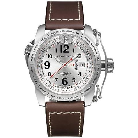 Hamilton H62555753 - Reloj analógico de caballero automático con correa de piel marrón - sumergible a 200