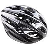 #5: Men's Cycling Helmet, Adults Adjustable Size Bicycle Silver PVC EPS Protecting Helmet with Visor- 1 Year Warranty