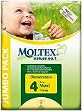 Moltex Nature No1 Eco Nappy Maxi Size 4 (7-18 kg/15-40 lb)--Pack of 74 Nappies