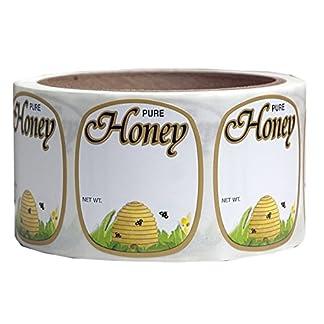 Mann Lake 250 Count Golden Honeybee Skep Label, 1-5/8 by 1-15/16-Inch 7