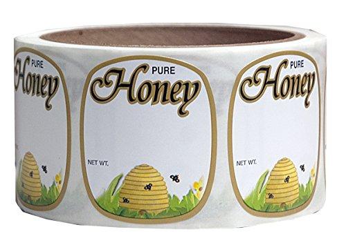 Mann Lake 250 Count Golden Honeybee Skep Label, 1-5/8 by 1-15/16-Inch 1