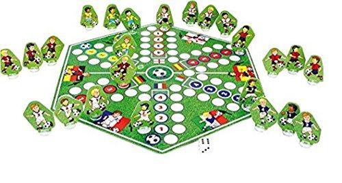 Fußballspiel Fussballspiel Fussball Spiel Gesellschaftsspiel mit sechs Nationen Deutschland , England , Frankreich , Spanien , Italien und Brasilien by Leger