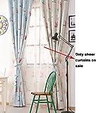 Tisch-Bside Motiv Eulen Muster bedruckt Vorhänge, Angel-Tasche mit luftdurchlässig Fenster...