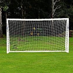 Fútbol/fútbol redes de redes de objetivo profesional tamaño completo de reemplazo portátil para deportes al aire libre formación y práctica por Q & S vida, blanco