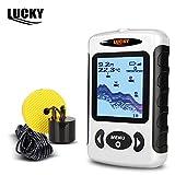 Lucky Digital Ffw-718sans fil détecteur de poisson Sonar radio Mer Lit Contour Live Update 44,2m/45m avec sac étanche