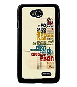 PrintDhaba Typography D-5557 Back Case Cover for LG L70 (Multi-Coloured)